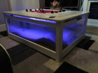 Pure stone fish tank coffee table