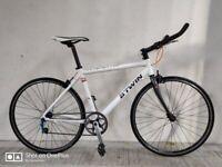 SERVICED (4532) 650c B'TWIN TRIBAN Aluminium JUNIOR SINGLE SPEED ROAD BIKE BICYCLE Height: 145-165cm