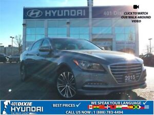2015 Hyundai Genesis 3.8 PREMIUM|AWD|LEATHER HEATED SEATS|NAV|