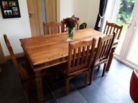 Hand Made Beautiful Dining Room Table and 6 Chairs