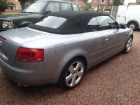 Mint 2006 Audi A4 S Line 1.8T convertible, 2 owners, 45,000 miles with full service history.