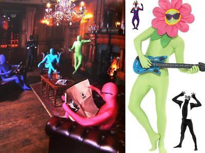 GANZKÖRPER Kostüm Anzug, Second Skin,schwarz,blau,grün,orange,lila,rot