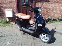 2003 Vespa ET4 125 automatic scooter, long MOT, good condition, runs very well, black, ride away,,,