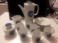 Thomas Germany Blue Pin Wheel Coffee Set