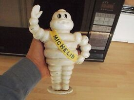 Cast iron Michelin man money box, vintage / antique style? garage tyre sign