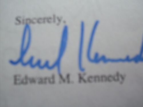 Senator Ted Kennedy Letter to Me