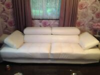 Two White Settees