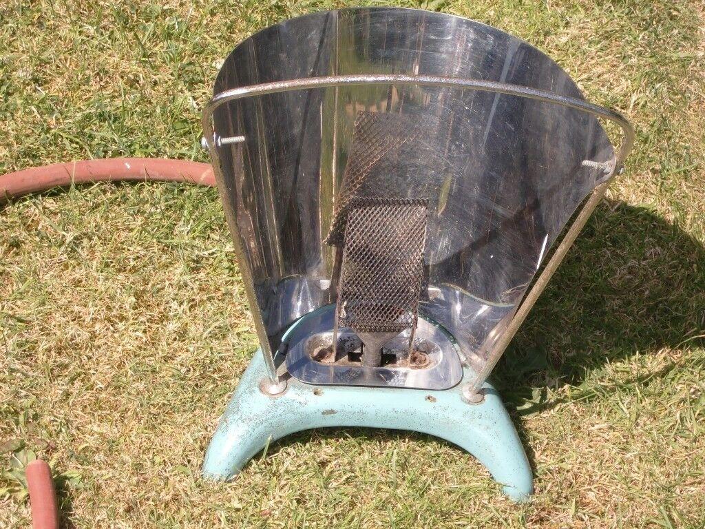 Vintage Harper 350 Vintage Butane Propane Gas Portable Heater - Blue Enamel