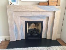Ivett & Reed Stone Hearth and Fire Surround