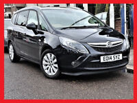 Automatic - 2014 Vauxhall Zafira Tourer 2.0 Auto CDTi SE - half LEATHER Seats - 7 Seater -Great Spec