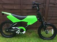 Green moto motorbike style bike