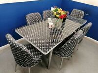 ⭐🌈MEGA JACKPOT SALE 🔥🔥ON LOUIS VUITTON EXTENDABLE DINING TABLE WITH 6 CHAIRS