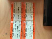 2 return train tickets Edinburgh to London