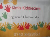 Registered Childminder based in Charvil with space from September