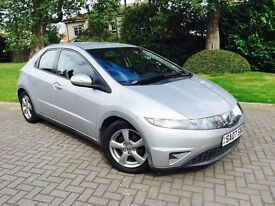 HONDA CIVIC 1.8 I SE VTEC 2007 5 DOOR HATCHBACK MOT 1 YEAR FULL SERVICE HISTORY