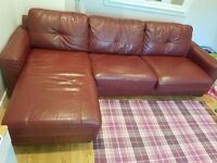Beautiful and comfortable Leather Sofa Bed