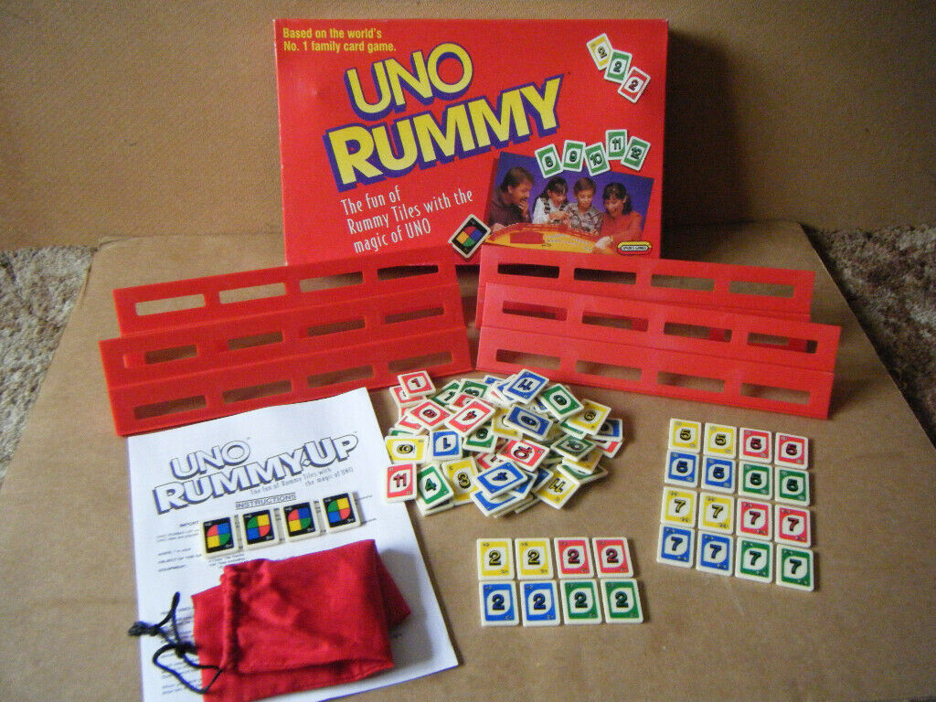 (UNO RUMMY) Tile game  Spears games 1993  Excellent condition  Downloaded  Rules  | in Poole, Dorset | Gumtree