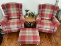 NEXT Armchairs and Footstool