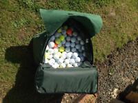 Big bag of golf balls