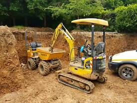 Digger and driver hire £150