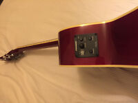 Freshman FA1AWR Electro Acoustic Guitar and Case