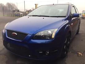 FORD FOCUS ST 3 SERVICED 10 MONTHS MOT POPS AND BANGS XENONS FULL LEATHER PX SWAP 3dr BLUE