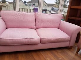 Pink 3 seater sofa for sale cost £600 six months ago selling for £200