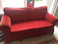 IKEA Red sofa - 3 seater