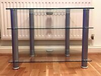 Clear Glass TV Shelving Storage Unit / Stand ***MINT CONDITION*** Like New!