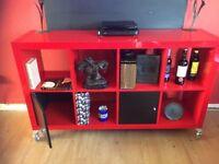 Lovely Red Storage Unit On Castors