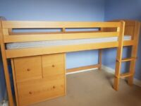 Kid's cabin bed with storage