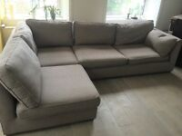 Marks and Spencer Large Corner Sofa with Large Footstool. Can be used as two 2 -seater sofa's