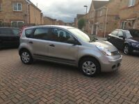 2008 NISSAN NOTE VISIA 1.4, MOT 11 MONTHS, AUX INPUT, EXCELLENT CONDITION, LOW MILEAGE, HPI CLEAR