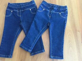 6-9 months baby denim jeggings - brand new