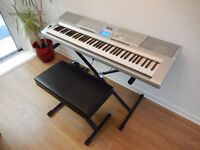 Yamaha Portable Grand DGX-205 ,Stand,Pedal,Stool