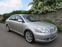 TOYOTA AVENSIS 2.0 D-4D 2006 LOW MILES 11 SERVICE STAMPS MOT JAN 2018 NO ADVISORYS