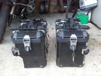 BMW original side panniers with protective Black PVC covering. One key is included.