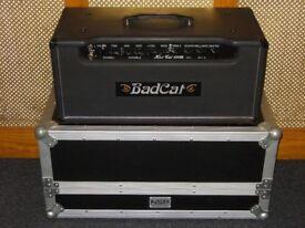 Bad Cat Hot Cat 100R valve amplifier head top of the range with NSP flightcase
