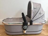 iCandy Peach main carrycot - silver mint (RRP:£199)