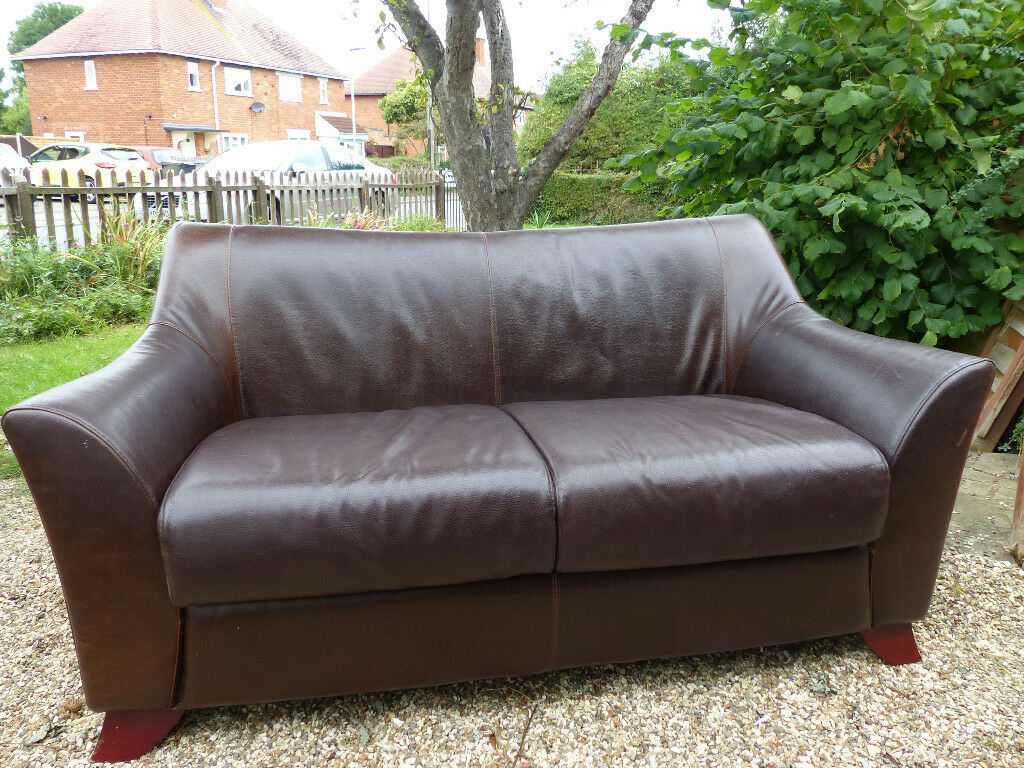Surprising Decoro Italian Brown Leather 3 Person Sofa In Hucclecote Gloucestershire Gumtree Ncnpc Chair Design For Home Ncnpcorg