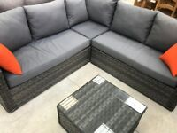 FOR SALE GARDEN CORNER SOFA WITH TABLE!! DELIVERY AVAILABLE!!