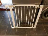 Safety 1st SecurTech Auto Close Metal Gate - White x 2 with extensions