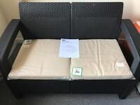 Keter Corfu garden conservatory 2 seater sofa - new fully assembled.