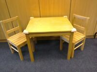 Child's Dining Set Table and 2 Chairs