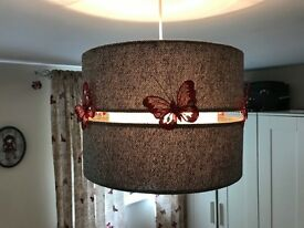 Black & grey textured large ceiling shade