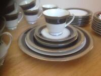 Noritake china creation cobalt platinum dining set