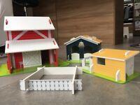 ELC Wooden Farm Play Set