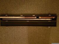 Peradon Typhoon 3-piece pool cue for sale with case. Great condition.