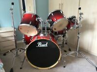 Drum Kit - 6 piece Pearl Export Ruby Fade