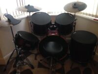 Mapex drum kit with quite pads